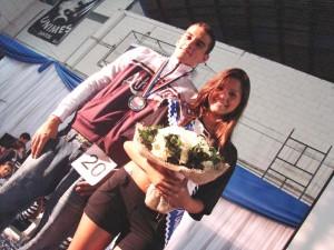 Fernanda Batista Soarez, da Publicidade Esamc e Maílson Rennan Borges Dias, da Medicina Veterinária Unimes, foram eleitos Rainha e Rei dos Jogos da Unsianta, em 2009